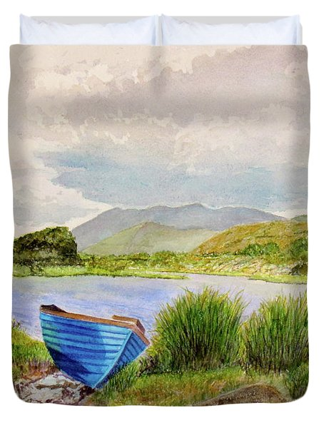 Duvet Cover featuring the painting Ireland by Carol Flagg