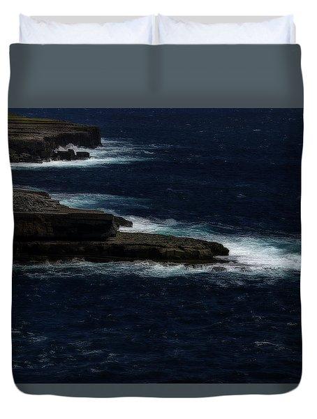 Duvet Cover featuring the photograph Ireland Inishmore Aran Island Coastal Landscape by Enrico Pelos