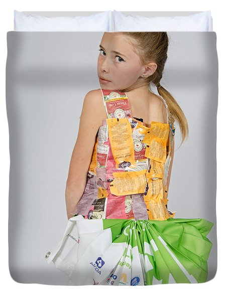 Irene In Tea Bags Shirt And Banners Skirt Duvet Cover
