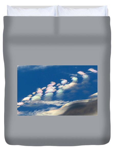Iridescent Clouds 2 Duvet Cover