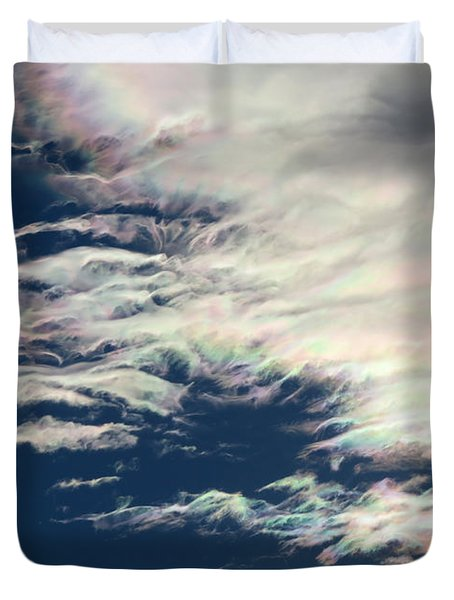 Iridescent Clouds 3 Duvet Cover