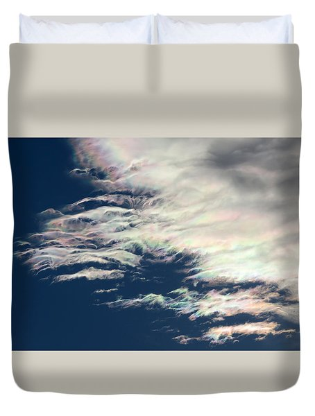 Iridescent Clouds 3 Duvet Cover