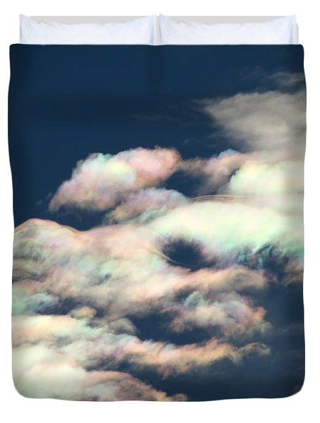 Iridescent Clouds Duvet Cover