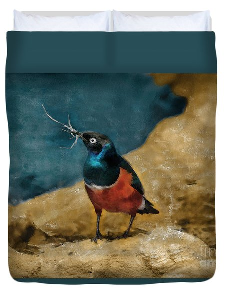 Iridescent Starling Duvet Cover