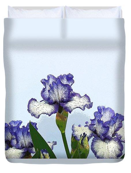 Iris 15 Duvet Cover by Allen Beatty