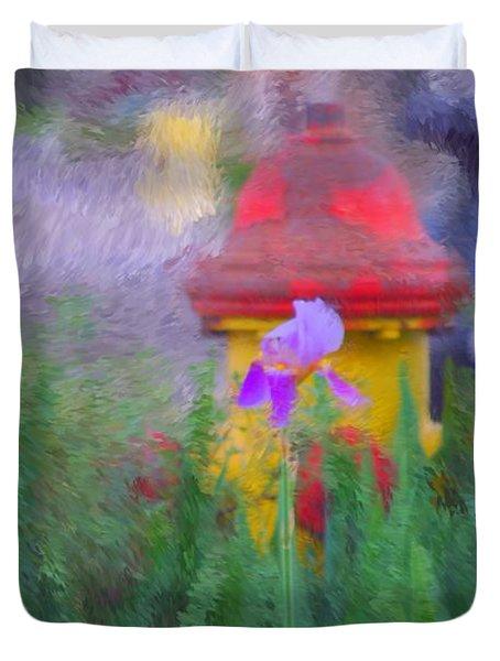 Iris And Fire Plug Duvet Cover by David Lane