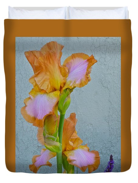 Iris And Salvia Duvet Cover