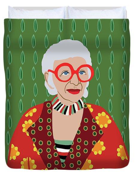 Iris Apfel Duvet Cover