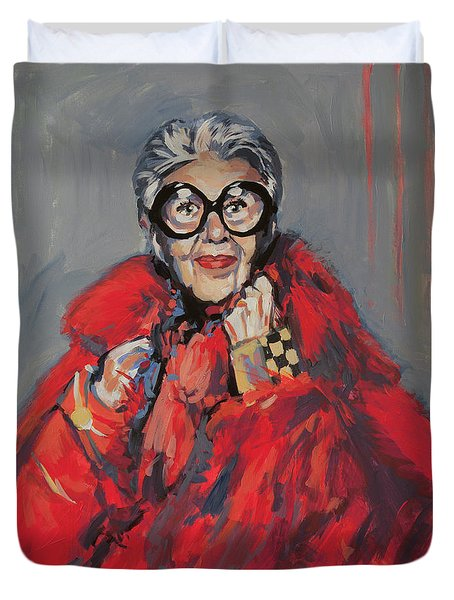 Iris Apfel Style Icon Duvet Cover