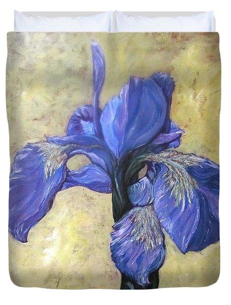 Iris Duvet Cover by Barbara O'Toole
