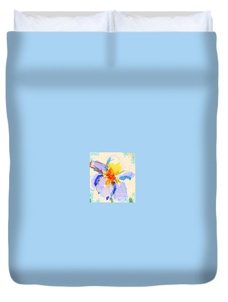 Iris Bloom Duvet Cover
