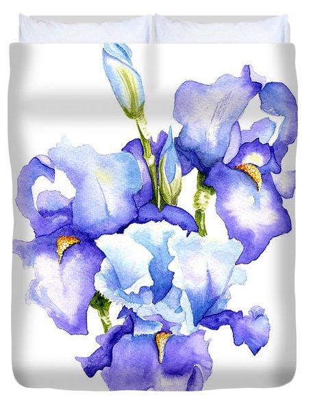 Iris Blooms Duvet Cover