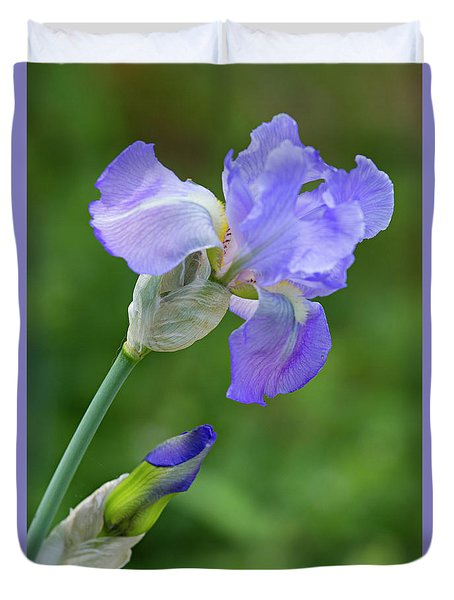Iris Blue Duvet Cover