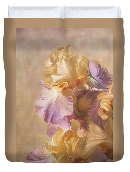 Lovely Iris Duvet Cover