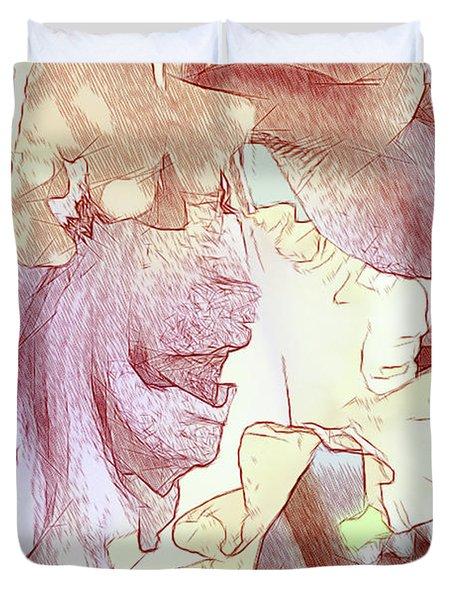 Iris Drawing In Color Duvet Cover