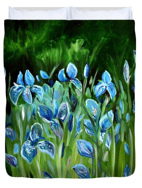Iris Galore Duvet Cover