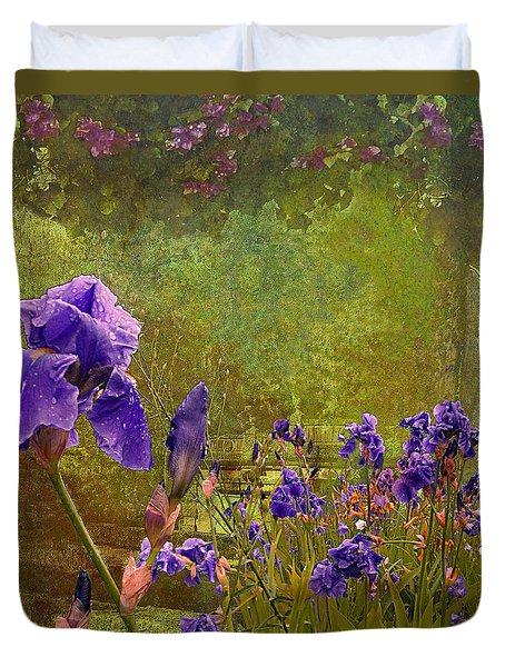 Iris Garden Duvet Cover by Jeff Burgess