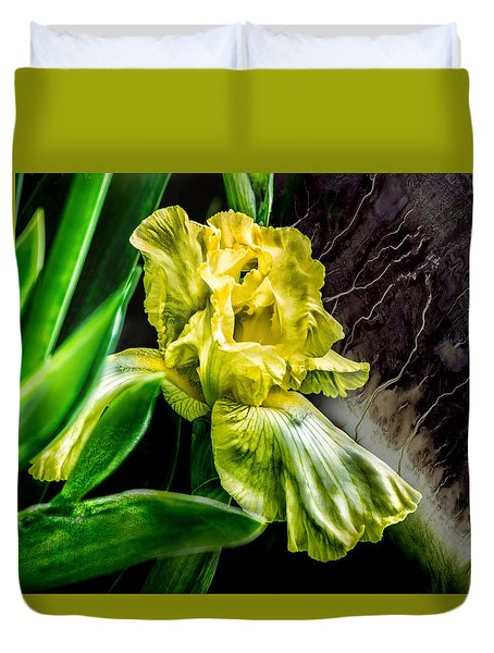 Duvet Cover featuring the photograph Iris In Bloom Two by Richard Ricci