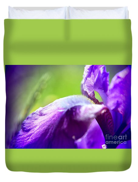 Iris In Moscows Garden Duvet Cover