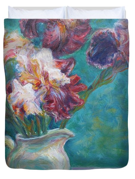 Iris Medley - Original Impressionist Painting Duvet Cover