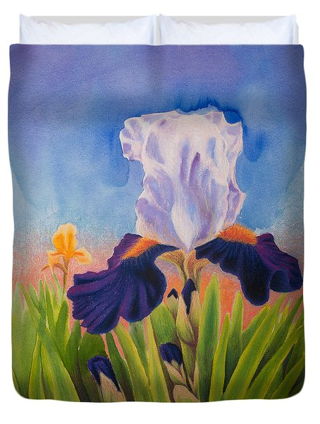 Iris Morning Duvet Cover