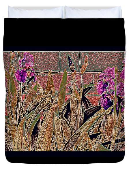Iris Mural Duvet Cover