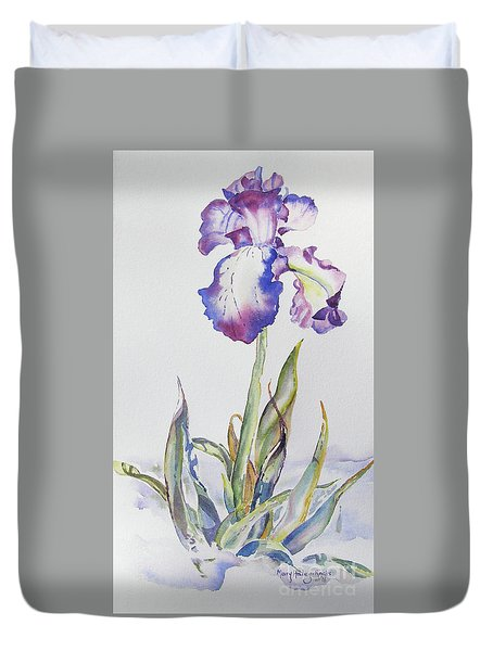 Iris Passion Duvet Cover by Mary Haley-Rocks