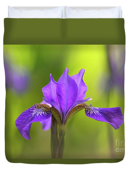 Iris Duvet Cover by Rima Biswas