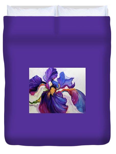 Iris Serenity Duvet Cover by Marcia Baldwin