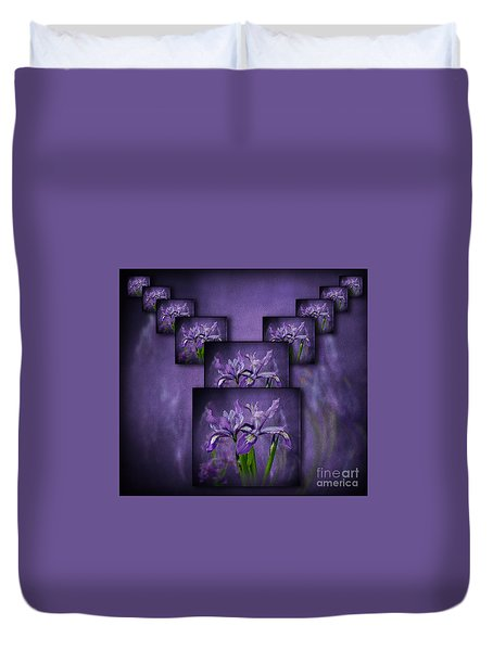 Iris Stack Duvet Cover