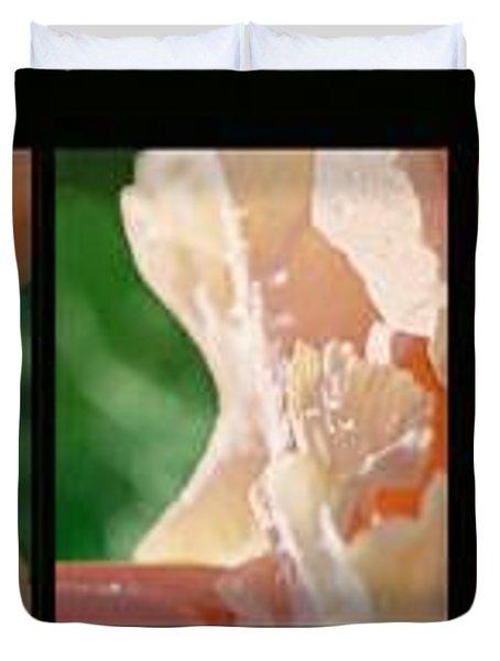 Duvet Cover featuring the photograph Iris by Steve Karol