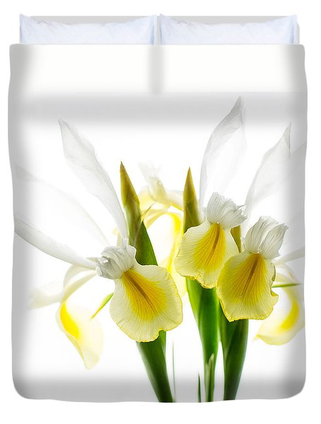 Iris Trio Black And White Duvet Cover