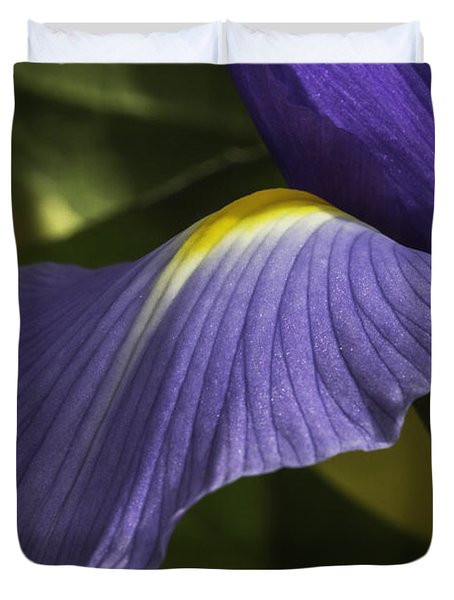 Iris Up Close Duvet Cover