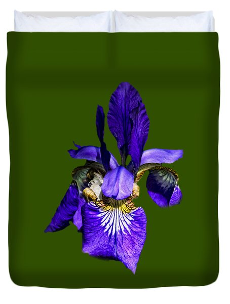 Duvet Cover featuring the photograph Iris Versicolor by Mark Myhaver