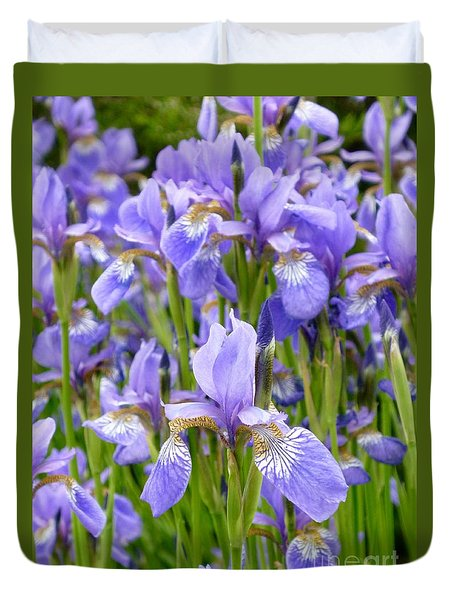 Irises Duvet Cover by Tim Good