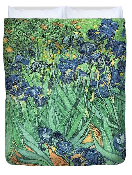 Irises Duvet Cover by Vincent Van Gogh