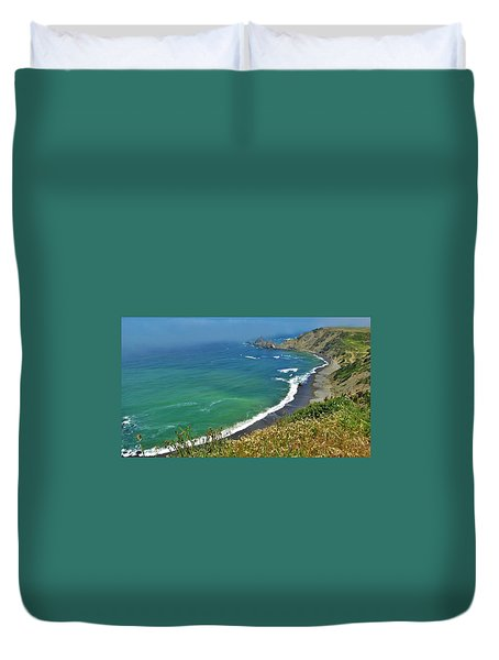 Irish Beach Viewpoint Duvet Cover