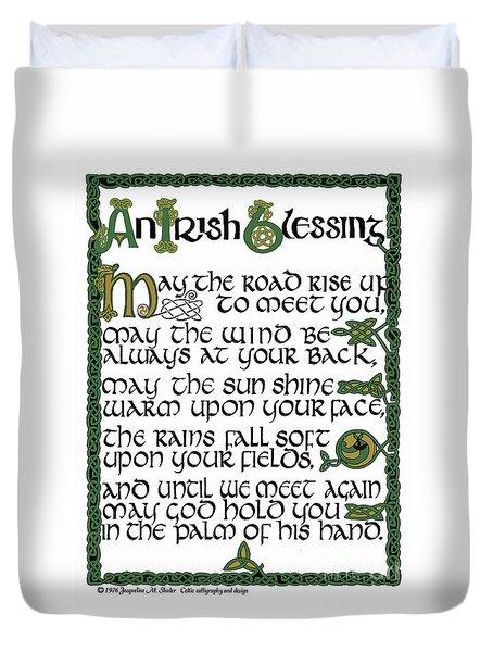 Irish Blessing Duvet Cover