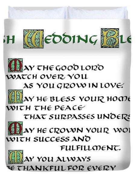 Irish Celtic Wedding Blessing Duvet Cover