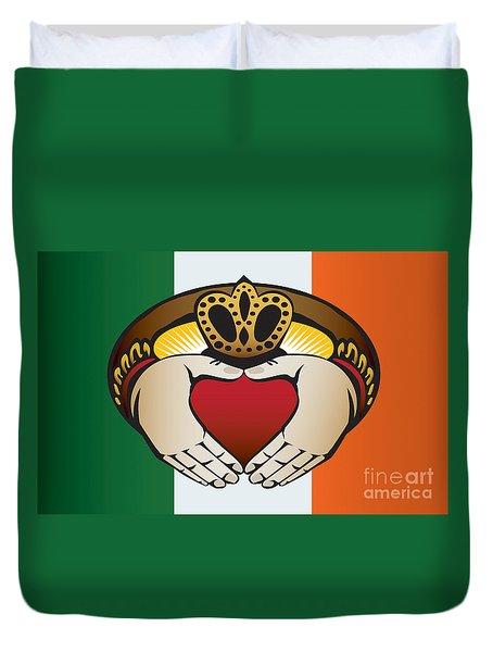 Irish Claddagh Art Duvet Cover