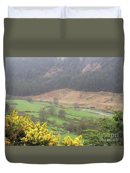 Irish Landscape Duvet Cover by Crystal Rosene