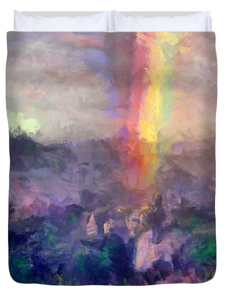 Irish Rainbow Duvet Cover