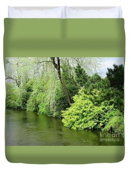 Irish River 2 Duvet Cover by Crystal Rosene