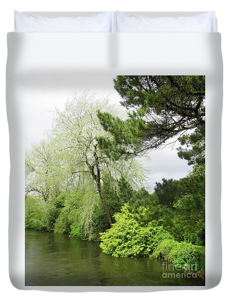 Irish River 3 Duvet Cover by Crystal Rosene