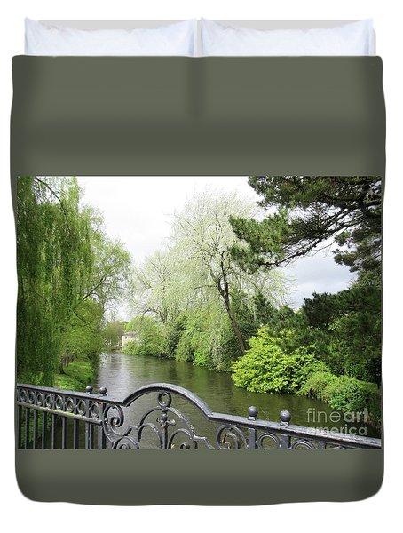 Irish River 4 Duvet Cover by Crystal Rosene
