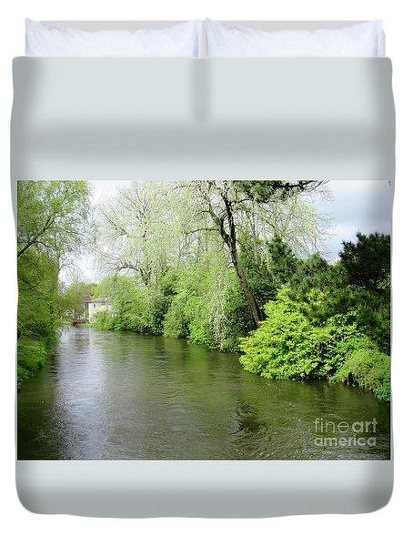 Irish River Duvet Cover by Crystal Rosene