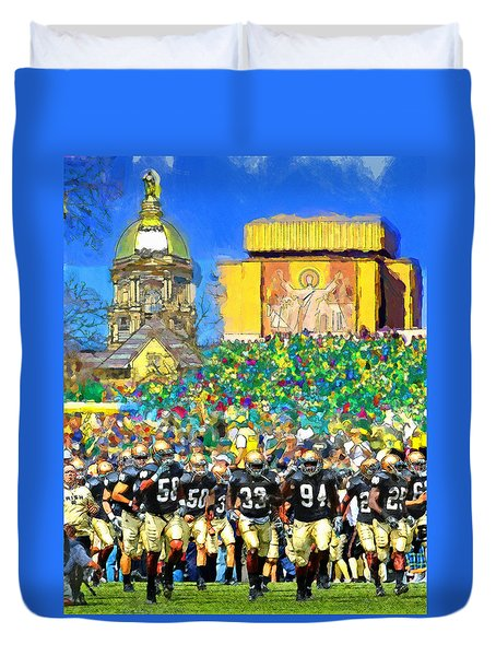 Irish Run To Victory Duvet Cover