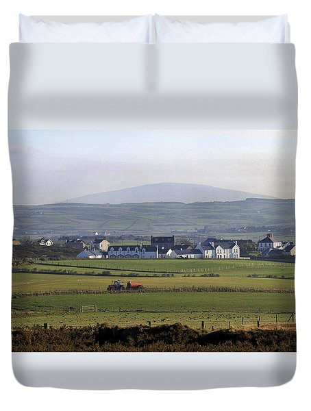 Irish Sheep Farm II Duvet Cover