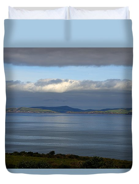 Duvet Cover featuring the photograph Irish Sky - Ring Of Kerry, Dingle Bay by Enrico Pelos