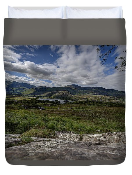 Duvet Cover featuring the photograph Irish Sky - Wicklow Mountains by Enrico Pelos